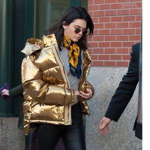 Metallic winter jacket